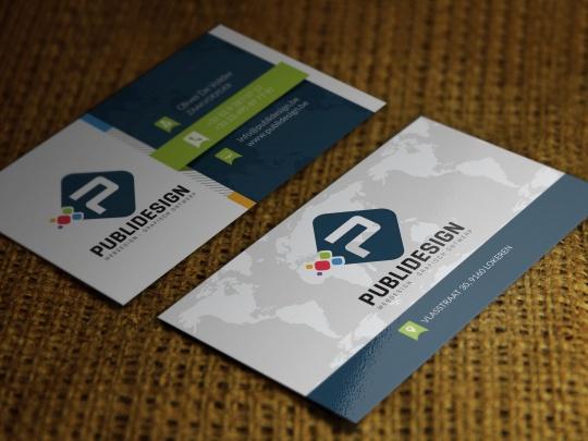Mockup Visitekaartjes PubliDesign