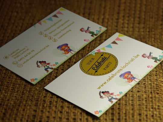 Mockup Celebrate Visitekaartjes